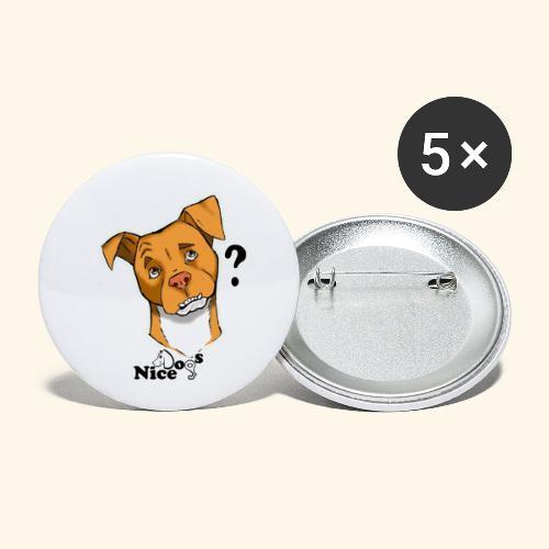 Nice Dogs pitbull 2 - Confezione da 5 spille piccole (25 mm)