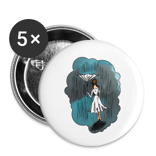 Upside Down Umbrella - Buttons small 1''/25 mm (5-pack)