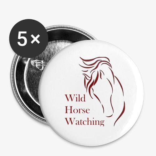 Logo Aveto Wild Horses - Confezione da 5 spille piccole (25 mm)