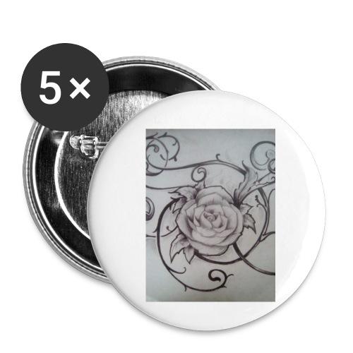 Tattoo Rose - Rintamerkit pienet 25 mm (5kpl pakkauksessa)