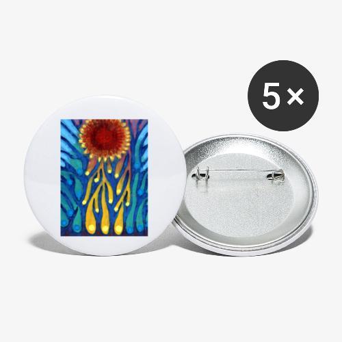Chore Słońce - Przypinka mała 25 mm (pakiet 5 szt.)