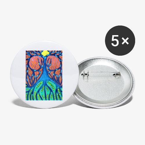 Drapieżne Drzewo - Przypinka mała 25 mm (pakiet 5 szt.)