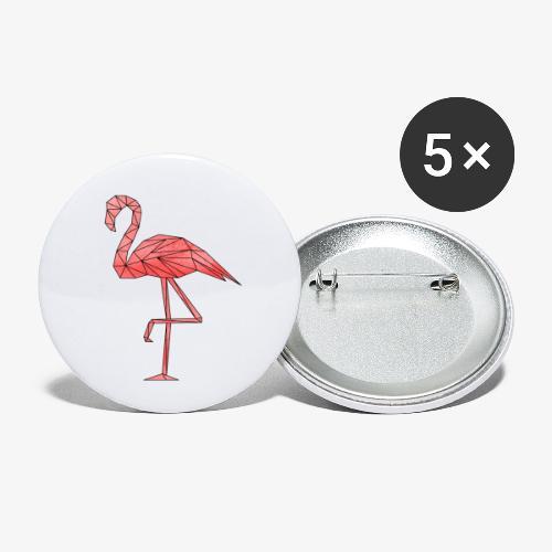 Flamingo Geometrisch - Buttons klein 25 mm (5er Pack)