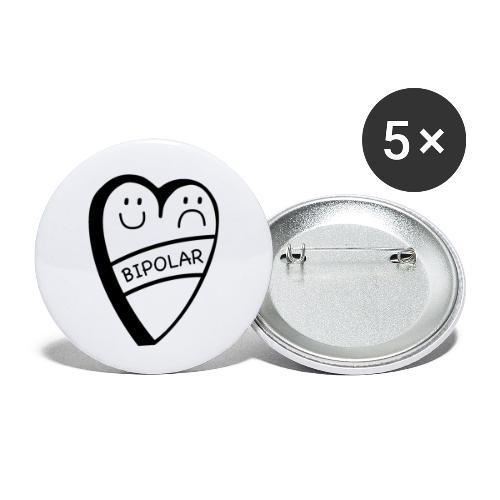 Bipolar - Buttons klein 25 mm (5er Pack)