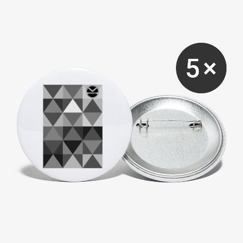  K·CLOTHES  TRIANGULAR ESSENCE - Paquete de 5 chapas pequeñas (25 mm)