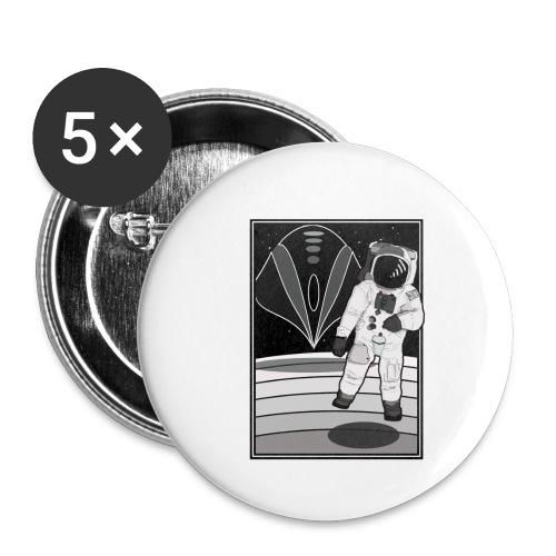 ASTRONAUTA - Paquete de 5 chapas pequeñas (25 mm)