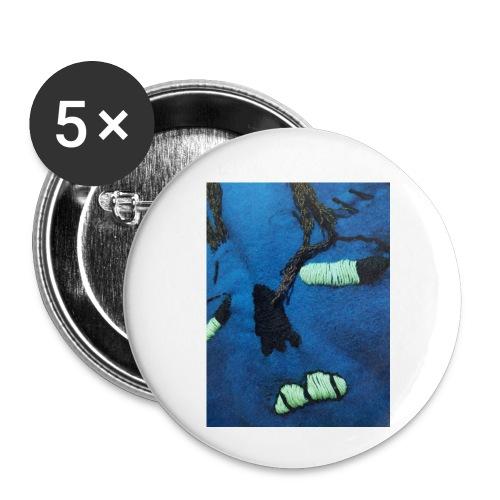 exibition1 - Små knappar 25 mm (5-pack)