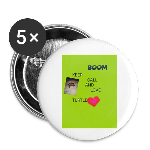 Keep call and love turtle - Rintamerkit pienet 25 mm (5kpl pakkauksessa)
