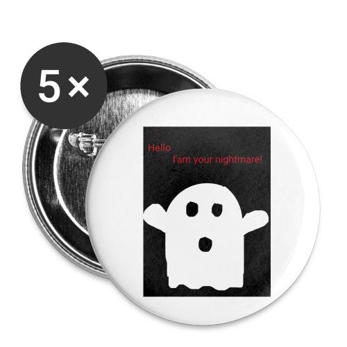 Cute Ghost - Rintamerkit pienet 25 mm (5kpl pakkauksessa)