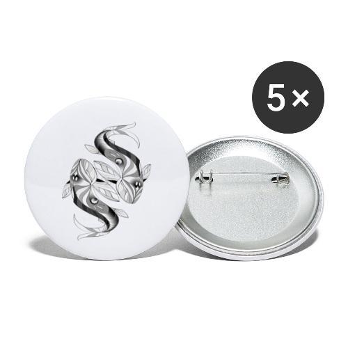 Fische Sternzeichen - Buttons klein 25 mm (5er Pack)