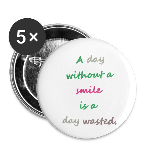 Say in English with effect - Buttons small 1''/25 mm (5-pack)