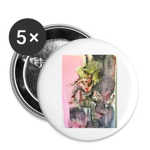 IMG 0764 Happy - Små knappar 25 mm (5-pack)