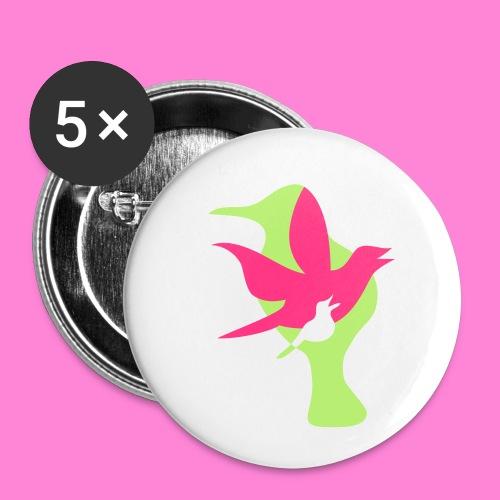 birds - Buttons klein 25 mm (5-pack)