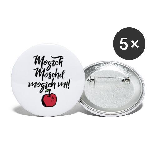 Mogsch Moschd, mogsch mi! Schwäbischer Spruch - Buttons klein 25 mm (5er Pack)