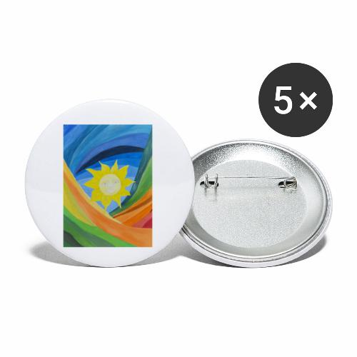 lachende-sonne - Buttons klein 25 mm (5er Pack)