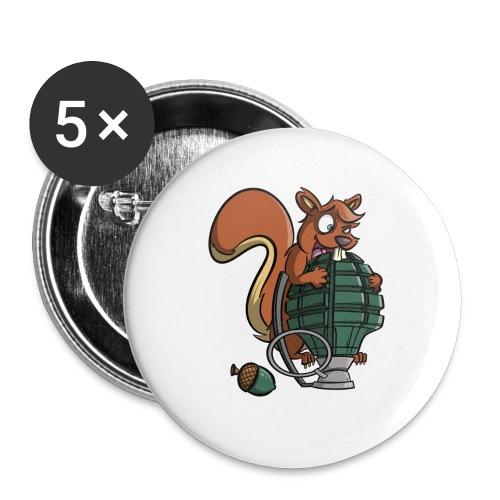 Eichhörnchen Granate - Buttons klein 25 mm (5er Pack)