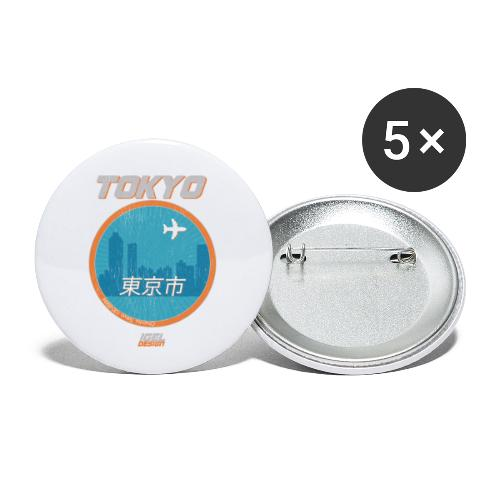 Tokyo - Buttons klein 25 mm (5er Pack)