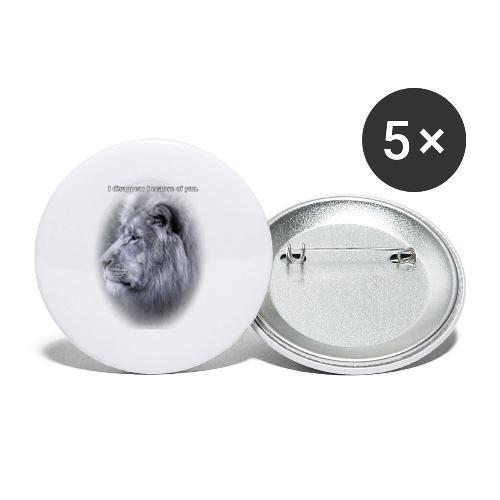 Strength and respect - Lot de 5 petits badges (25 mm)