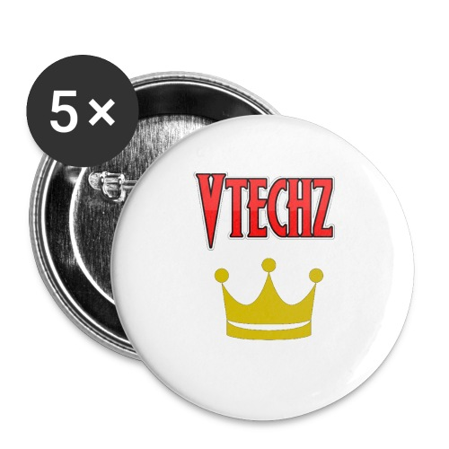 Vtechz King - Buttons small 1''/25 mm (5-pack)