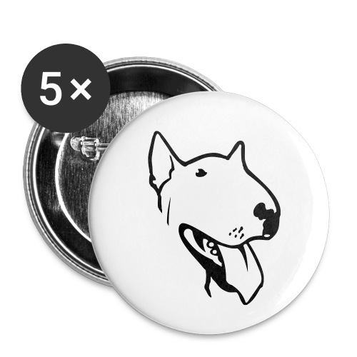 bull terrier2 - Buttons small 1''/25 mm (5-pack)