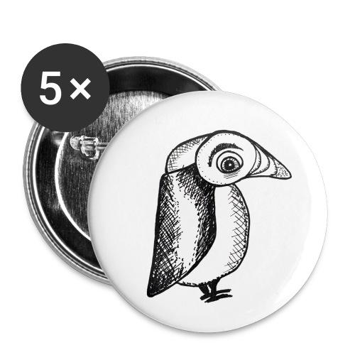 fatbird - Lot de 5 petits badges (25 mm)