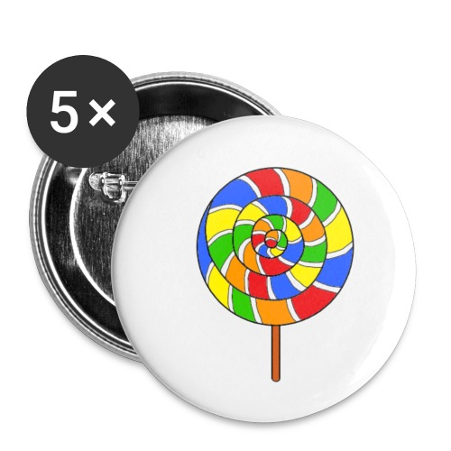 sucette couleur spreadshirt - Lot de 5 petits badges (25 mm)