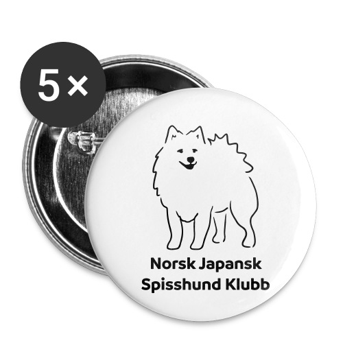 NJSK - Buttons small 1''/25 mm (5-pack)