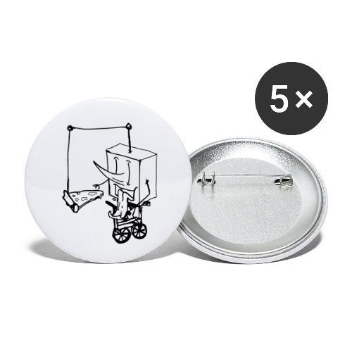 dude food - Confezione da 5 spille piccole (25 mm)