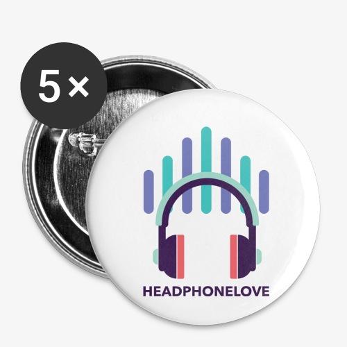 headphonelove - Buttons klein 25 mm (5er Pack)
