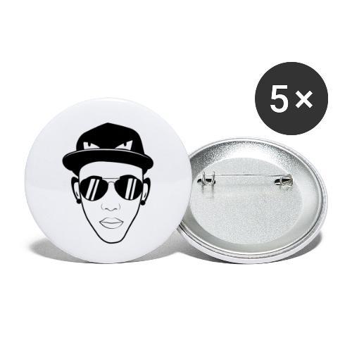 adhex cara - Paquete de 5 chapas pequeñas (25 mm)