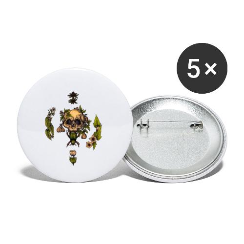 Skull - Buttons small 1''/25 mm (5-pack)
