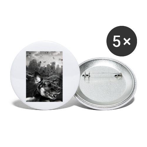 Chaos - Buttons klein 25 mm (5er Pack)