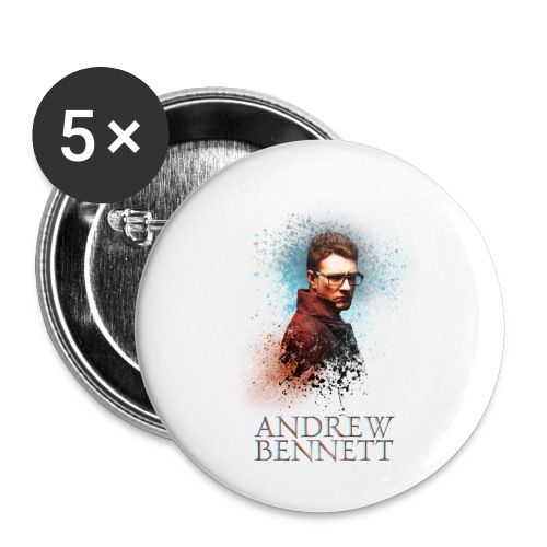 Andrew Bennett - Lot de 5 petits badges (25 mm)
