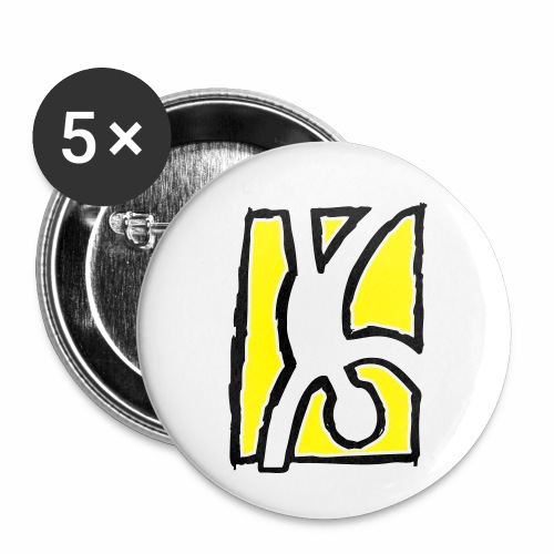 Capoeira: Hand stand - Buttons small 1''/25 mm (5-pack)