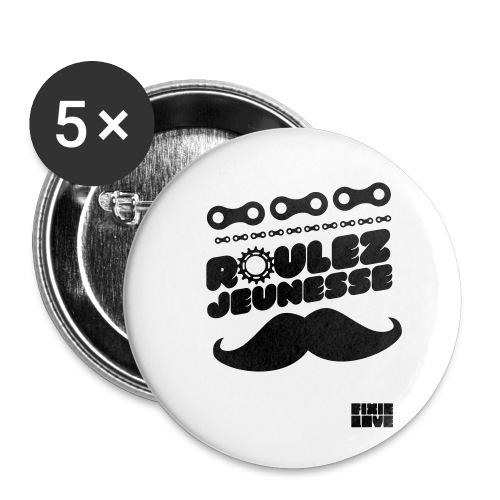 tee-shirt fixie - Lot de 5 petits badges (25 mm)