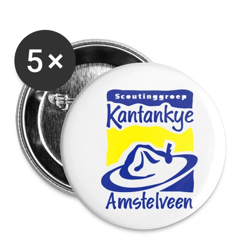 logo simpel 2 - Buttons klein 25 mm (5-pack)