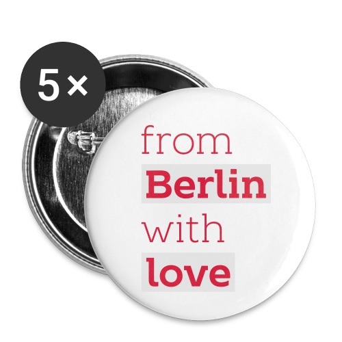 From Berlin with Love - Buttons klein 25 mm (5er Pack)
