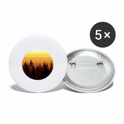 sunset - Lot de 5 petits badges (25 mm)