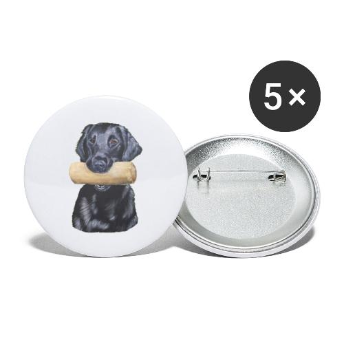 flatcoated retriever Dumbbell - Buttons/Badges lille, 25 mm (5-pack)
