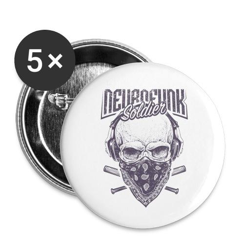neurofunk soldier - Lot de 5 petits badges (25 mm)