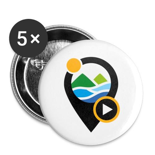 PICTO - Lot de 5 petits badges (25 mm)