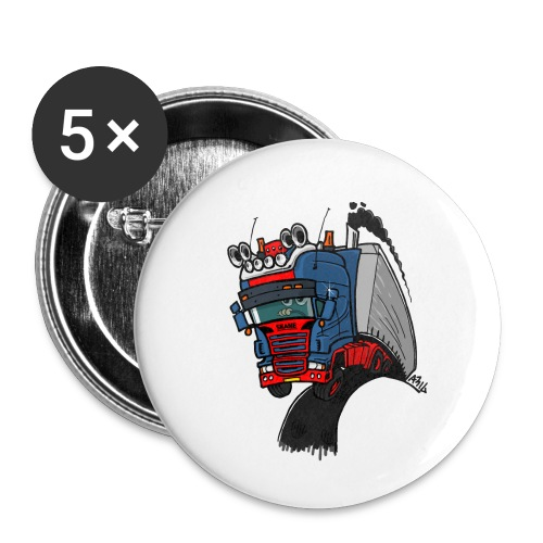 The flying skane man notext - Buttons klein 25 mm (5-pack)