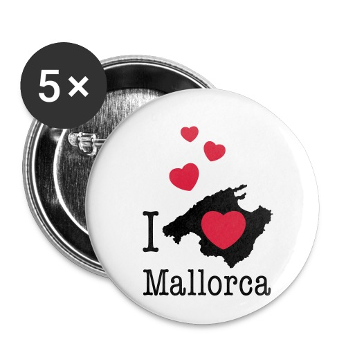 love Mallorca Balearen Spanien Ferieninsel Urlaub - Buttons small 1''/25 mm (5-pack)