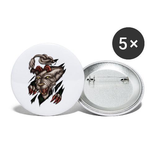 Steirischer Panther zerreisst Tshirt - Buttons klein 25 mm (5er Pack)
