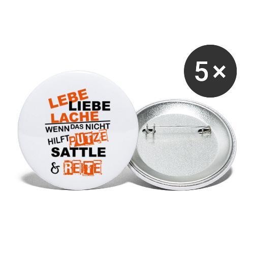 Lebe Liebe Lache Reite - Buttons klein 25 mm (5er Pack)