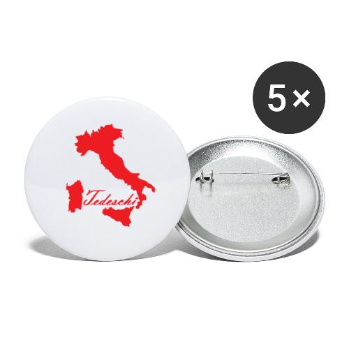 Tedeschi rouge - Lot de 5 petits badges (25 mm)