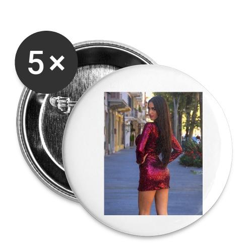 Cecilia Russo - Confezione da 5 spille piccole (25 mm)