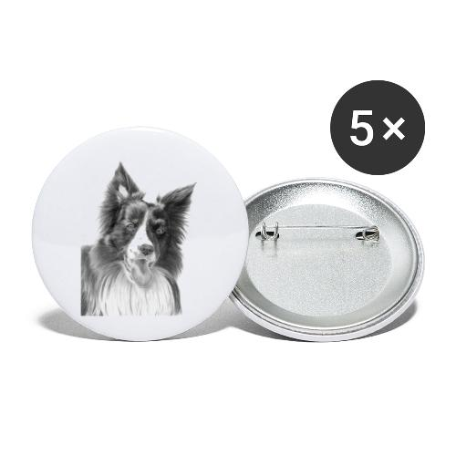 border collie 3 - Buttons/Badges lille, 25 mm (5-pack)
