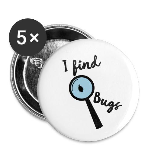 Nerd Sprüche - I find Bugs - Buttons klein 25 mm (5er Pack)