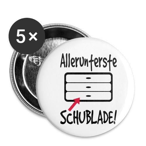 Unterste Schublade Büro Bürohumor Kollegen Spruch - Buttons klein 25 mm (5er Pack)